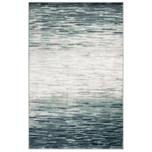 """Liora Manne Aurora Strata Indoor Rug Blue 4'10""""X7'6"""""""