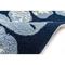 """Liora Manne Capri Seashell Border Indoor/Outdoor Rug Navy 7'6""""X9'6"""""""