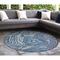 "Liora Manne Carmel Agate Indoor/Outdoor Rug Navy 7'10"" RD"