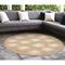 "Liora Manne Carmel Seaturtles Indoor/Outdoor Rug Sand 7'10"" RD"