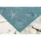 "Liora Manne Carmel Shells Indoor/Outdoor Rug Aqua 7'10"" RD"