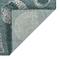 """Liora Manne Carmel Shells Indoor/Outdoor Rug Teal 7'10"""" RD"""