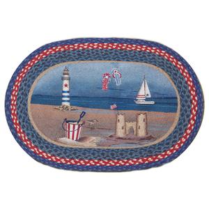 American Coast Oval Patch Rug