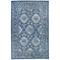 """Liora Manne Carmel Vintage Floral Indoor/Outdoor Rug Navy 7'10"""" RD"""