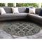 """Liora Manne Carmel Vintage Floral Indoor/Outdoor Rug Black 7'10"""" RD"""