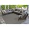 """Liora Manne Carmel Texture Stripe Indoor/Outdoor Rug Grey 8'10""""X11'9"""""""