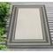 "Liora Manne Carmel Multi Border Indoor/Outdoor Rug Grey 39""X59"""