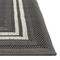 "Liora Manne Carmel Multi Border Indoor/Outdoor Rug Grey 6'6""X9'4"""
