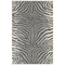 """Liora Manne Carmel Zebra Indoor/Outdoor Rug Grey 6'6""""X9'4"""""""