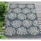 "Liora Manne Carmel Coral Indoor/Outdoor Rug Navy 6'6""X9'4"""