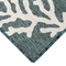 "Liora Manne Carmel Coral Indoor/Outdoor Rug Teal 23""X7'6"""
