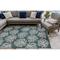 "Liora Manne Carmel Coral Indoor/Outdoor Rug Teal 39""X59"""