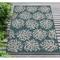 "Liora Manne Carmel Coral Indoor/Outdoor Rug Teal 7'10""X9'10"""