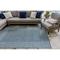 "Liora Manne Carmel Gingham Border Indoor/Outdoor Rug Navy 4'10""X7'6"""
