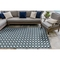 "Liora Manne Carmel Gingham Indoor/Outdoor Rug Navy 7'10""X9'10"""