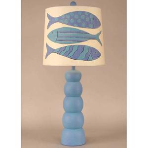 5 Ball Pot Table Lamp With Angel Fish Lamp Shade