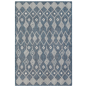 "Liora Manne Carmel Marrakech Indoor/Outdoor Rug Navy 23""X7'6"""