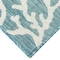 "Liora Manne Carmel Coral Border Indoor/Outdoor Rug Aqua 23""X7'6"""
