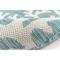 "Liora Manne Carmel Coral Border Indoor/Outdoor Rug Aqua 4'10""X7'6"""
