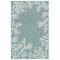 "Liora Manne Carmel Coral Border Indoor/Outdoor Rug Aqua 7'10"" RD"