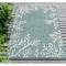 "Liora Manne Carmel Coral Border Indoor/Outdoor Rug Aqua 7'10""X9'10"""