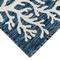 "Liora Manne Carmel Coral Border Indoor/Outdoor Rug Navy 7'10"" RD"