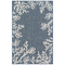 "Liora Manne Carmel Coral Border Indoor/Outdoor Rug Navy 7'10""X9'10"""