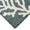 """Liora Manne Carmel Coral Border Indoor/Outdoor Rug Teal 23""""X7'6"""""""