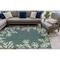 """Liora Manne Carmel Coral Border Indoor/Outdoor Rug Teal 7'10""""X9'10"""""""
