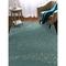 "Liora Manne Carmel School Of Fish Indoor/Outdoor Rug Aqua 6'6""X9'4"""