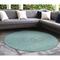 "Liora Manne Carmel School Of Fish Indoor/Outdoor Rug Aqua 7'10"" RD"