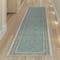 "Liora Manne Carmel Ancient Border Indoor/Outdoor Rug Aqua 23""X7'6"""