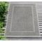 "Liora Manne Carmel Ancient Border Indoor/Outdoor Rug Grey 4'10""X7'6"""