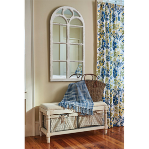 Wood Window Mirror Distressed White