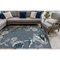 "Liora Manne Carmel Seashell Border Indoor/Outdoor Rug Navy 4'10""X7'6"""