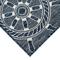 "Liora Manne Carmel Shipwheels Indoor/Outdoor Rug Navy 7'10"" SQ"