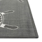 "Liora Manne Carmel Shipwheels Indoor/Outdoor Rug Grey 7'10"" SQ"