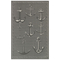 "Liora Manne Carmel Anchors Indoor/Outdoor Rug Grey 23""X7'6"""