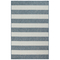 "Liora Manne Carmel Rugby Stripe Indoor/Outdoor Rug Navy 7'10""X9'10"""
