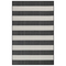 "Liora Manne Carmel Rugby Stripe Indoor/Outdoor Rug Black 39""X59"""