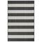 "Liora Manne Carmel Rugby Stripe Indoor/Outdoor Rug Black 4'10""X7'6"""
