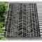 """Liora Manne Carmel Chevron Indoor/Outdoor Rug Black 39""""X59"""""""