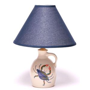 Blue Crab Jug Lamp