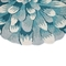 Liora Manne Frontporch Mum Indoor/Outdoor Rug Aqua 3' RD
