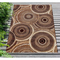 "Liora Manne Marina Circles Indoor/Outdoor Rug Brown 6'6""X9'4"""