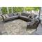 "Liora Manne Marina Kashan Indoor/Outdoor Rug Grey 39""X59"""