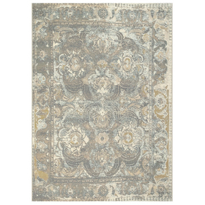 "Liora Manne Marina Kashan Indoor/Outdoor Rug Grey 7'10""X9'10"""