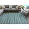 "Liora Manne Marina Stripes Indoor/Outdoor Rug Aqua 6'6""X9'4"""