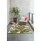 "Liora Manne Marina Tropical Leaf Indoor/Outdoor Rug Cream 8'10""X11'9"""