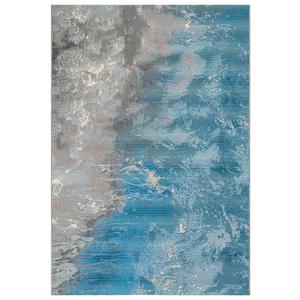 """Liora Manne Marina Surf Indoor/Outdoor Rug Ocean 4'10""""X7'6"""""""